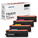 SMARTOMI, confezione da 4, cartucce toner TN423 TN421 compatibili con KCMY Brother TN-423 TN423BK TN423C TN423M TN423Y TN-421 per uso con stampante a colori Brother L8260CDW L8360CDW L8690CDW L8900CDW