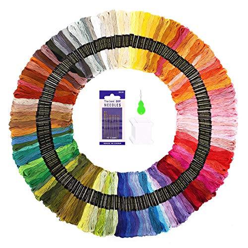 SOLEDI Hilo de Punto de Cruz 150 Tipos de Colores Bordados Hilo de Bordar de Algodón 100%(150 Colores )