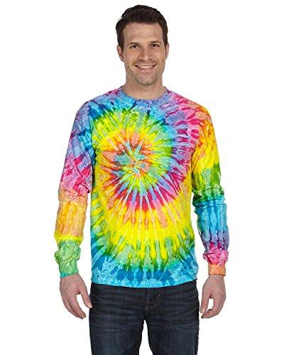 Tie-Dyed Tie-Dye 5.4 Oz, 100% Cotton Long-Sleeve T-Shirt, Medium, Saturn