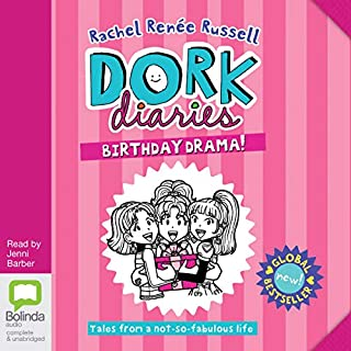 Birthday Drama!     Dork Diaries, Book 13              Written by:                                                                                                                                 Rachel Renée Russell                               Narrated by:                                                                                                                                 Jenni Barber                      Length: 3 hrs and 41 mins     Not rated yet     Overall 0.0