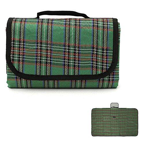 GlobalDeal Direct 149,7 cm - Couverture portable et imperméable - Pour extérieur, plage, camping, pique-nique - Vert