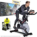 Sportstech Profi Indoor Cycle SX400 –Deutsche Qualitätsmarke-mit Video Events & Multiplayer APP, 22KG