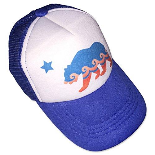 Sol Baby California Bear Blue Trucker Hat-L-Blue
