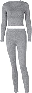 Fulision Women's Yoga Set Fashion Casual Seamless High Elastic Woman Girl Sportswear