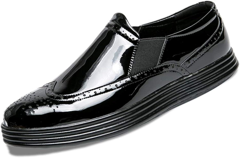 Easy Go Shopping Herren Lederschuhe, Mode Casual Classic Gravur Gravur und Vintage Farbe Reiben patentierte Brock Schuhe,Grille Schuhe  Geschäft
