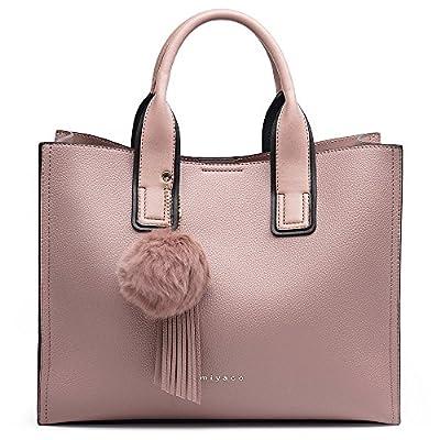 Sonori Purse and Handbag for Women Top Handle Satchel Handbag Shoulder Bag with Pom Pom