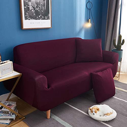 MUY Fundas para Sofa Elástica 1,2,3,4 Plazas,Cubre Sofá Universal Cubierta De Sofá De Color Sólido Protector De Sofá O Sillón,E,4seater235~300cm