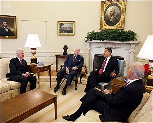 President Obama, Bill Clinton, Ted Kennedy, and Joe Biden 8x10 Silver Halide Photo Print