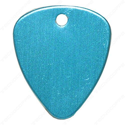 Plektrum mit persönlicher Gravur Hellblau mit Kette-Schlüsselanhänger
