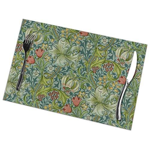 MINFUYAN Juego 6 manteles Individuales diseño Floral