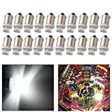 Qasim LED 20pcs DC 6V 6.3V LED Bulb BA9S T11 T4W BA9 H6W 3886X 1889 W6W for Toy Vehicles Battery Cars Pinball Game Machine Lights White