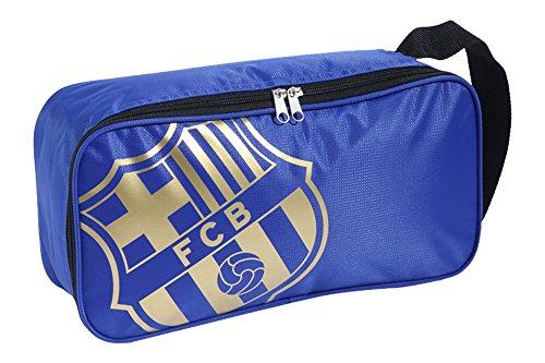 FC Barcelona Folien Print Schuh Tasche mit Wappen (Einheitsgröße) (Blau)