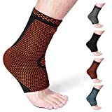 Cambivo Ankle Support Brace(2 Pairs), Ankle Sleeve Plantar Fasciitis Socks, Fit for Ankle