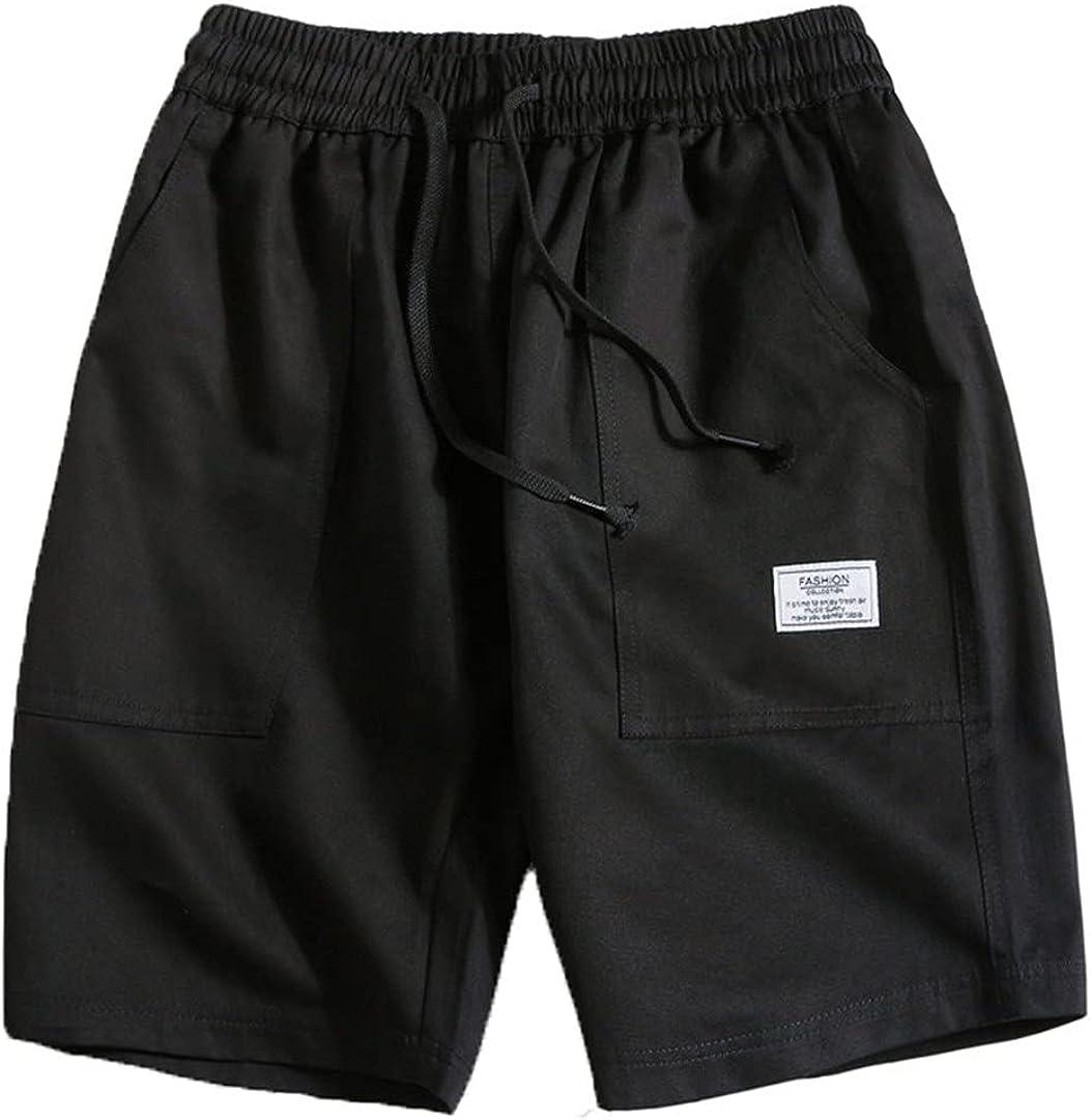 Kevents Summer Men's Camouflage Shorts Casual Cotton Half Cargo Pants Drawstring Loose Tend Slim Bottom