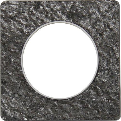 Schneider Electric Odace, 1 plaats SC5S52C802T Touch zwart Galaxie Biese, wit