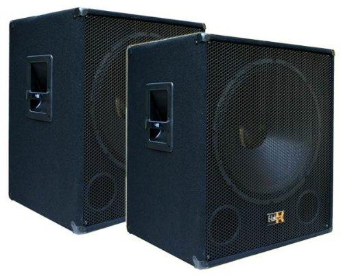 2x 1000W DJ PA Subwoofer Boxen Paar 18