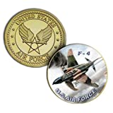 U.S. United States Air Force USAF | F-4 | Gold Plated Challenge Coin