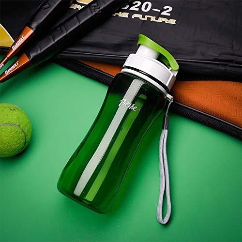 yylikehome Nouvel été 560 / 720ML Unbreable BPA en Plastique Ma Bouteille d'eau Randonnée en Montagne Camp Escalade Sport Fitness Pêche Bouteilles d'eau 720ml Vert