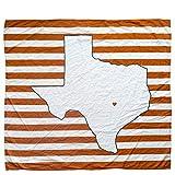 Austin Texas Baby Blanket Organic Cotton Muslin Swaddle Blanket - 47' x 43' - Texas Baby Gift for Boys Girls Fans of UT Longhorns Receiving Blankets