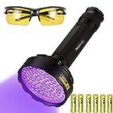 Alonefire SV128 395nm UV Torch 128 LED Ultraviolet...