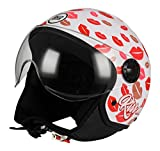 BHR 93157 Casco Demi-Jet Linea One 801, Kiss Me, multicolor, talla S