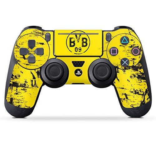 DeinDesign Skin kompatibel mit Sony Playstation 4 PS4 Pro Controller Folie Sticker Borussia Dortmund Offizielles Lizenzprodukt BVB