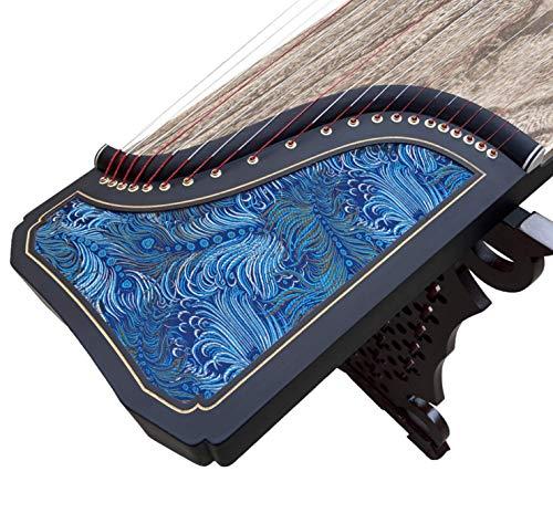 Guzheng Paulownia-Stickerei, 21 Stränge, 163 cm blau