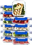 [10 SETS VALUE PACK] Glass Meal Prep Containers – Glass Food Storage Containers with...