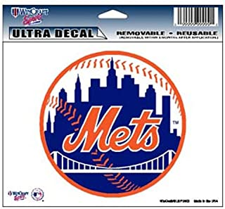 """WinCraft MLB New York Mets 14424031 Multi-Use Colored Decal, 5"""" x 6"""""""