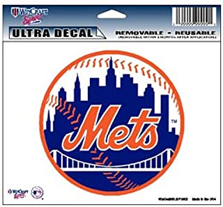WinCraft MLB New York Mets 14424031 Multi-Use Colored Decal, 5