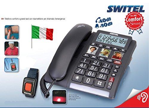 Telefono SalvaLaVita per Anziani con Bracciale SOS...