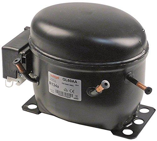 Compressor GL60AA 50Hz 220-240V stroomverbruik 126W koelmiddel R134a LBP 9,1kg 1/6HP