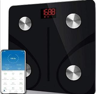 Qaqv Báscula de grasa corporal Báscula Bluetooth Báscula de peso Medición doméstica Báscula electrónica BMI inteligente Báscula de peso corporal Báscula de baño