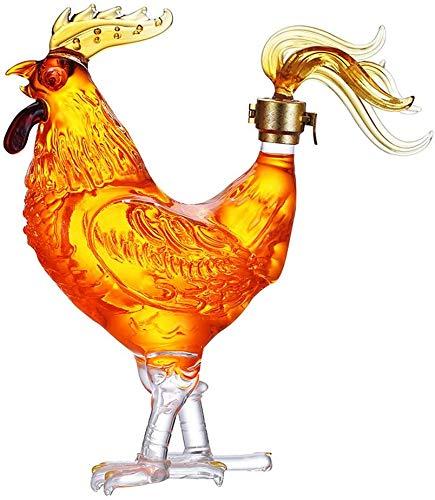 ZHIRCEKE Decantador de Botellas de Whisky con tapón hermético, Gama de Glass de Vidrio de Alto borosilicato, para Licor, escocés, Bourbon, Vino, vodka1000 ml