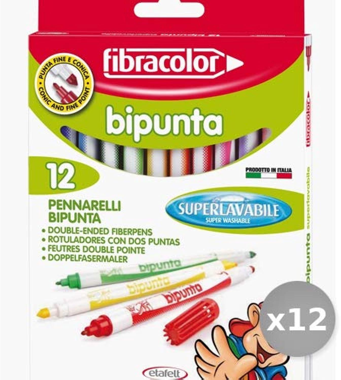 Set 12 ETAFELT Box 12 Pennarelli Bipunta Grossa fine10544sw012se