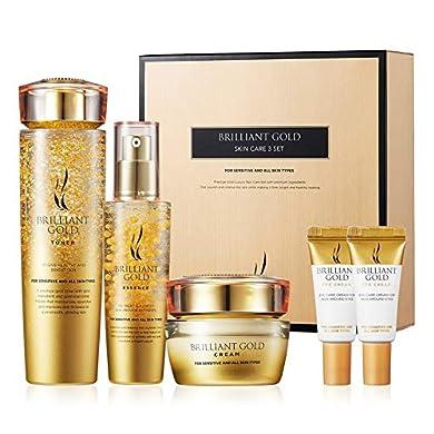 A.H.C Brilliant Gold Skin Care Set- Moisturizing Anti-Wrinkle Brightening The skin