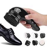 DMZH Mano Eléctrico Lustra Zapatos Equipo, Eléctrico Zapato Pulidora para Hombres Mujer, Portátil Cuero Zapatos Limpieza Cepillo Equipo
