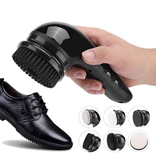 DMZH Handheld Elektrisch Schuhputzmaschine Kit, Elektrisch Schuh Poliermaschine Zum Männer Frauen, Tragbar Leder Schuhe Reinigung Bürste Kit