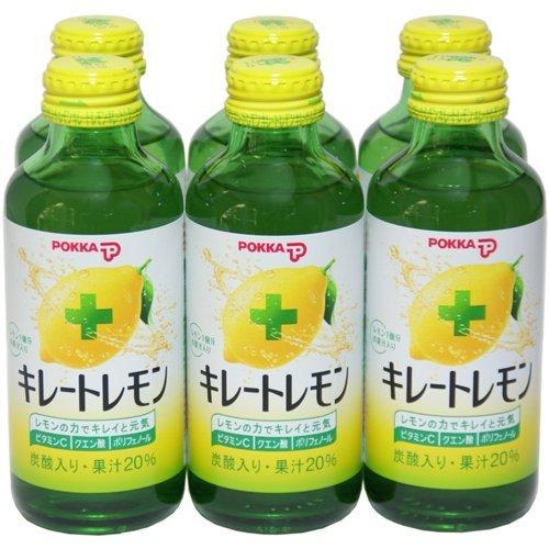 ポッカサッポロ キレートレモン 140ml瓶 6本セット
