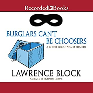 Burglars Can't Be Choosers audiobook cover art