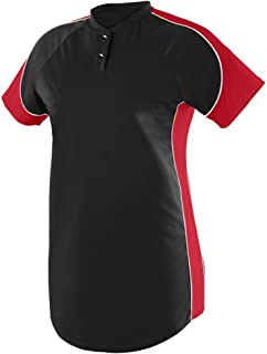 Augusta Sportswear Women's Blast Softball Jersey 2XL Black/Red/White