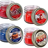 ☑️ Richly scented candles have a positive effect on your mood any time of day or day of the year. ☑️ Each Soy candle weighs 3-oz. and comes assorted among Strawberry Cranberry Blueberry Apple Pumpkin Flavors. ☑️ The sweet scent of strawberry shortcak...