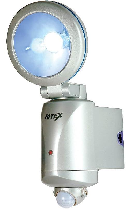 発信オートマトンあごひげムサシ RITEX 3W LEDセンサーライト 「乾電池式」 防雨タイプ LED-130