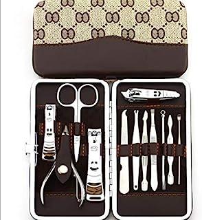 مجموعة تشذيب الأظافر 12 في 1 مجموعة أدوات العناية بالأظافر المصنوعة من الستانلس ستيل للفتيات