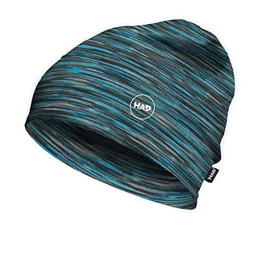 Had® Herren Printed Fleece Beanie Mütze, Multi Blue, Einheitsgröße