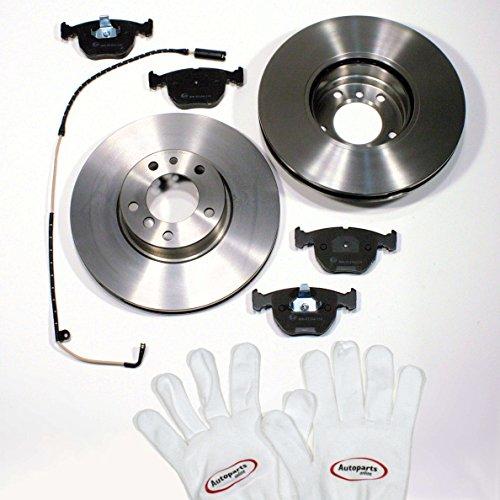 Autoparts-Online Set 60004596 Bremsscheiben/Bremsen + Bremsklötze + Warnkabel für vorne/für die Vorderachse