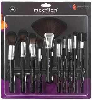 Kit com 10 pincéis para maquiagem - KP9-1B, Macrilan