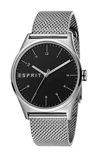 Esprit Herren Analog Quarz Uhr mit Edelstahl Armband ES1G034M0065