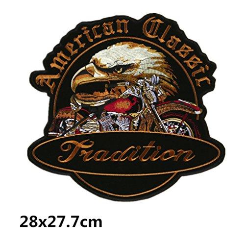 Bella Patch Aufnäher Aufkleber Aufbügler Applikation für Biker Motorcycles Adler Harley Moto Stickerei Iron on Sew on Cool Punk Abzeichen Stickers für T-Shirt Mantel Beutel Jacke