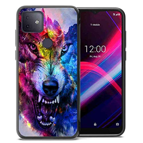 Phone Case for T-Mobile REVVL 4 Plus, TCL REVVL 4+ for Girls Women Space Galaxy Nebula Wolf, ABLOOMBOX Anti Scratch Slim Bumper Shockproof Protective Case Cover for T-Mobile REVVL 4+